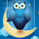 Owl and Moon - GraphicRiver Item for Sale