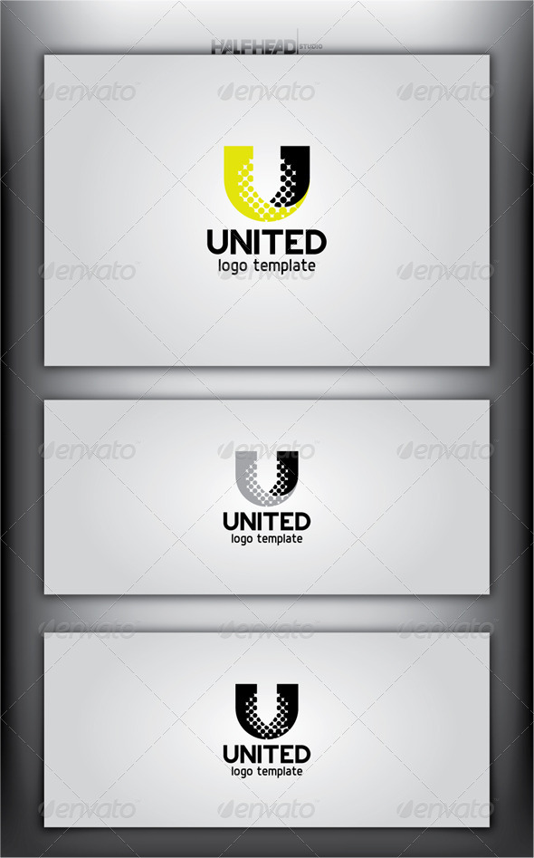 UNITED Logo Template - Letters Logo Templates