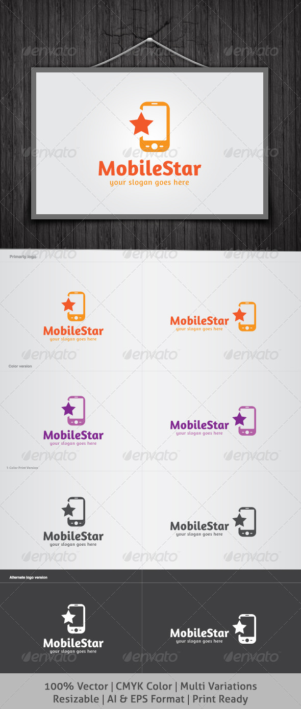 Mobile Star Logo - Symbols Logo Templates