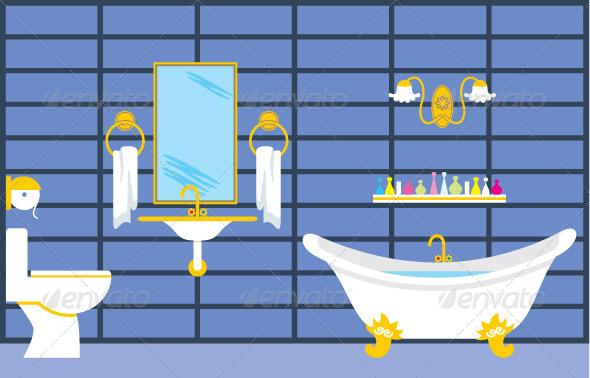 Bathroom - Objects Vectors