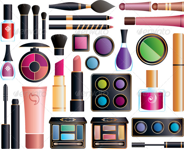 Set of Cosmetic Accessories - Commercial / Shopping Conceptual
