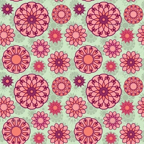 Floral Seamless - Patterns Decorative