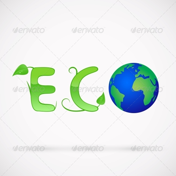 Ecology Earth Concept - Web Elements Vectors