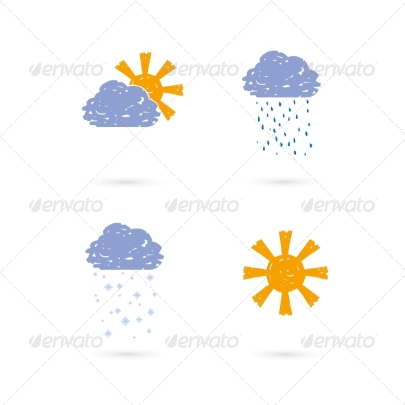 Hand Drawn Meteorology Icons - Web Elements Vectors