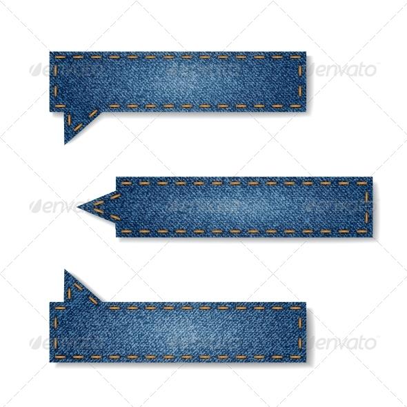 Jeans Tags - Web Elements Vectors