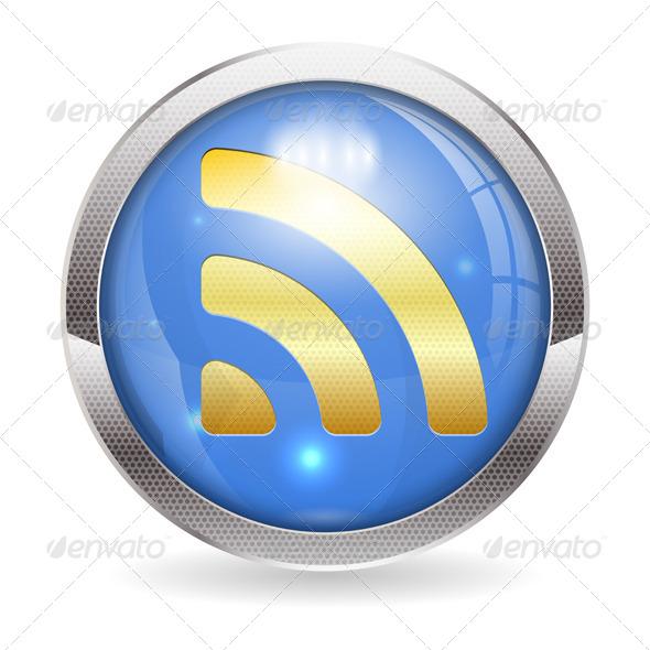 RSS Button - Web Elements Vectors