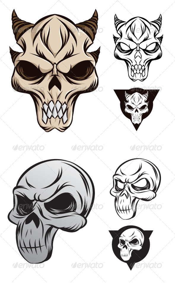 Horned Skull - Monsters Characters