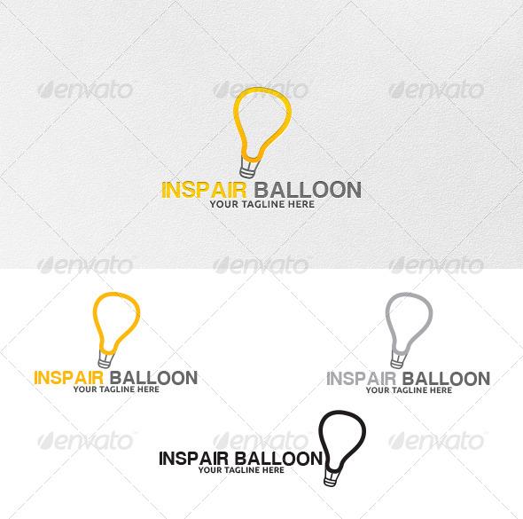 Inspair Balloon - Logo Template - Vector Abstract