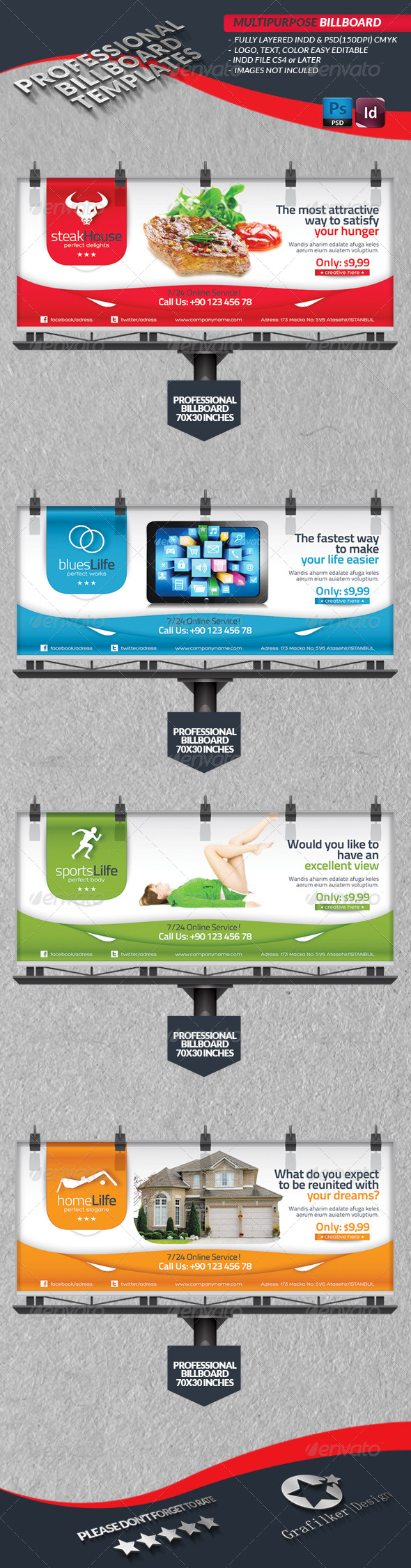 Multipurpose Billbord Template - Signage Print Templates