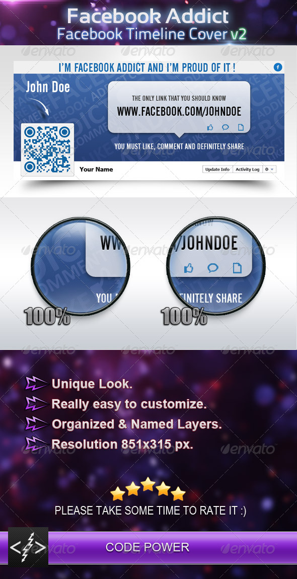Facebook Addict - Facebook Timeline Cover v2 - Facebook Timeline Covers Social Media