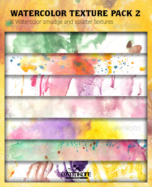 Watercolor Texture Pack 2 - Abstract Textures