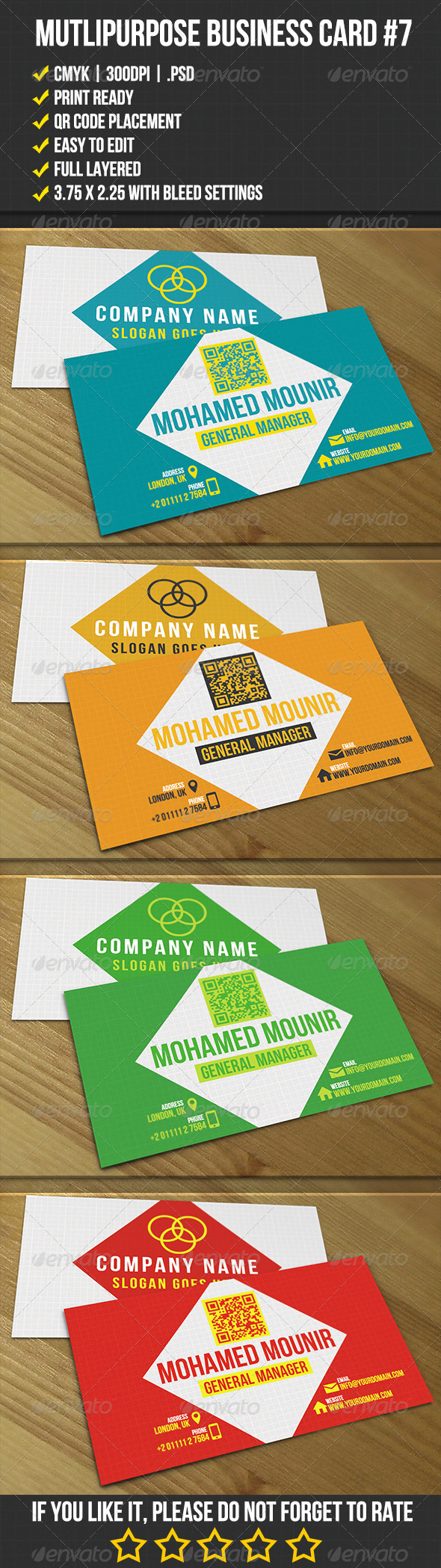Multipurpose Business Card 7 - Corporate Business Cards