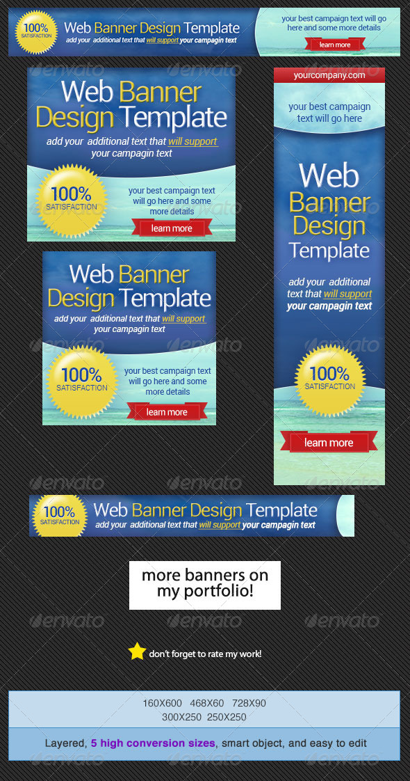 Web Banner Design Template - Banners & Ads Web Elements