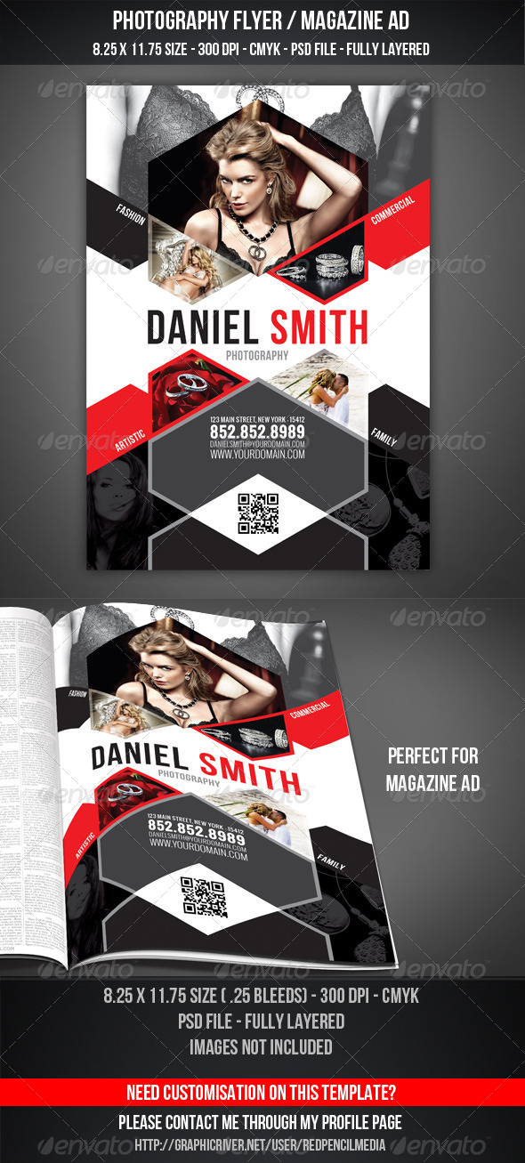 Photography Flyer / Magazine AD - Clubs & Parties Events