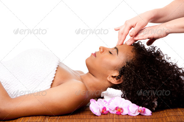 Facial massage in beauty spa - Stock Photo - Images