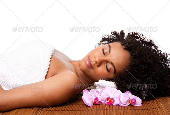 Beauty relaxation at spa - Stock Photo - Images