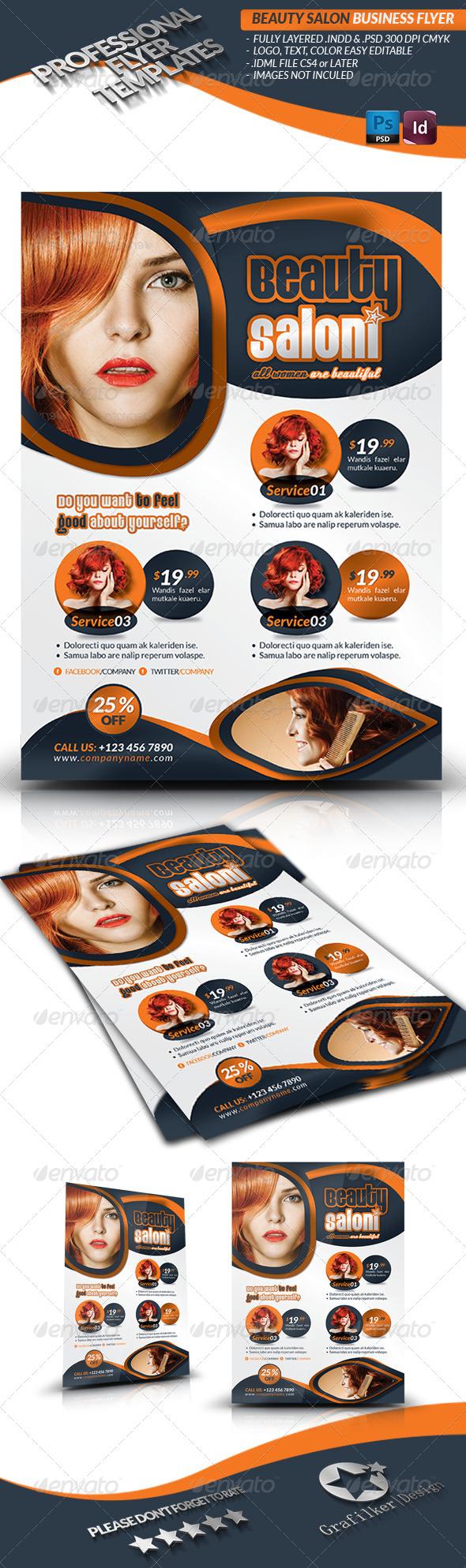 Beauty Salon Flyer Template - Corporate Flyers