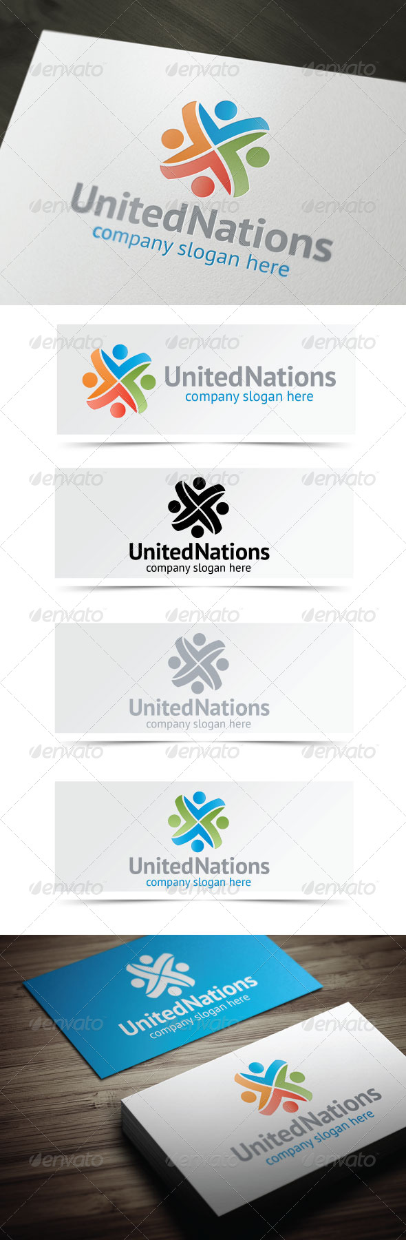 United Nations - Humans Logo Templates