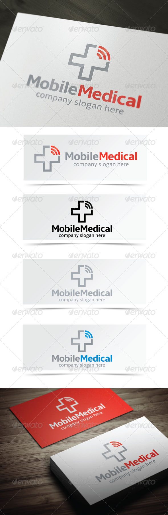 Mobile Medical - Symbols Logo Templates