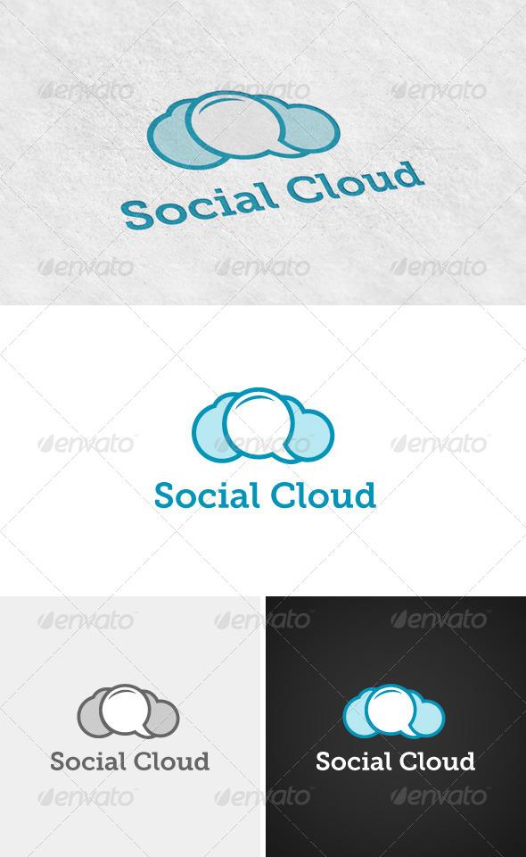 Social Cloud Logo - Logo Templates