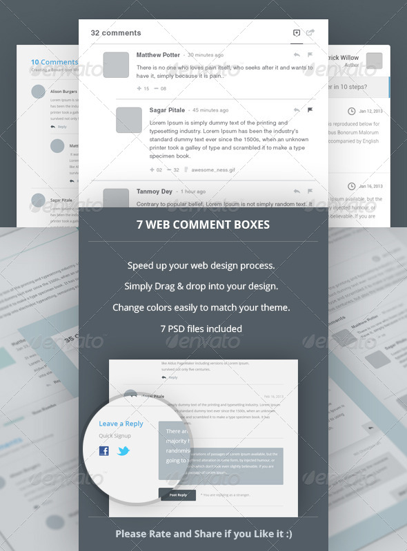 7 Web Comment Boxes - Miscellaneous Web Elements