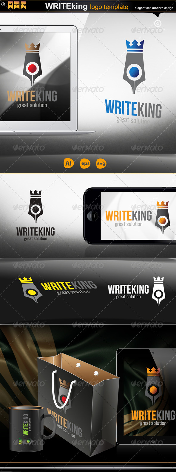 write king - Logo Templates