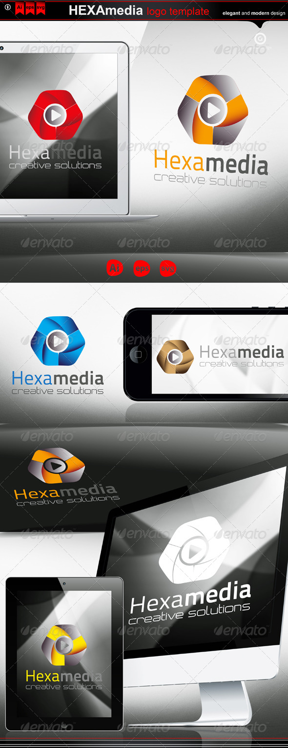 hexa media - Logo Templates