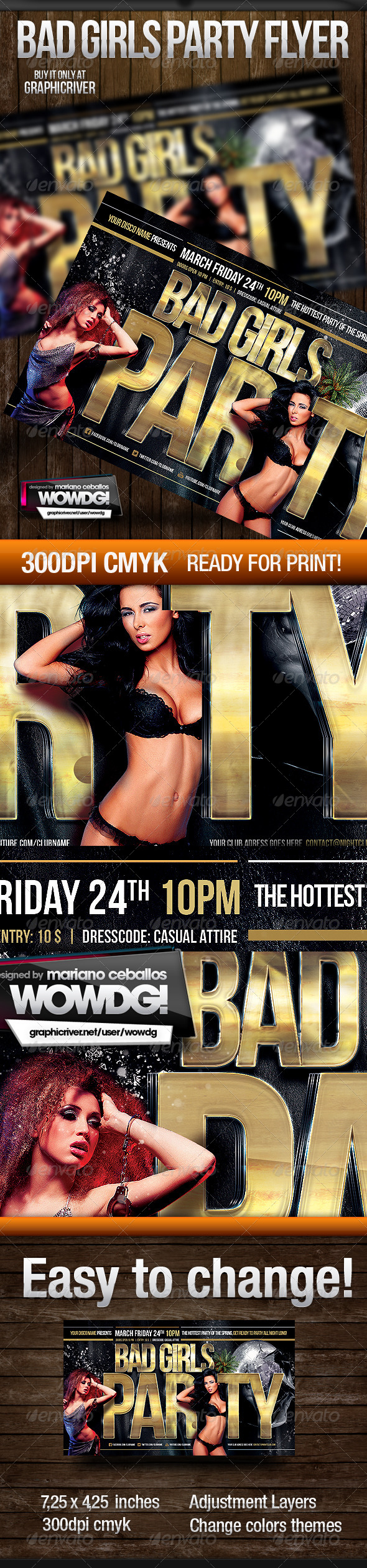 Bad Girls Party - Events Flyers