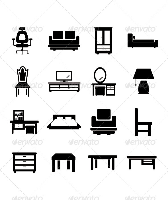 Furniture Icon - Man-made Objects Objects