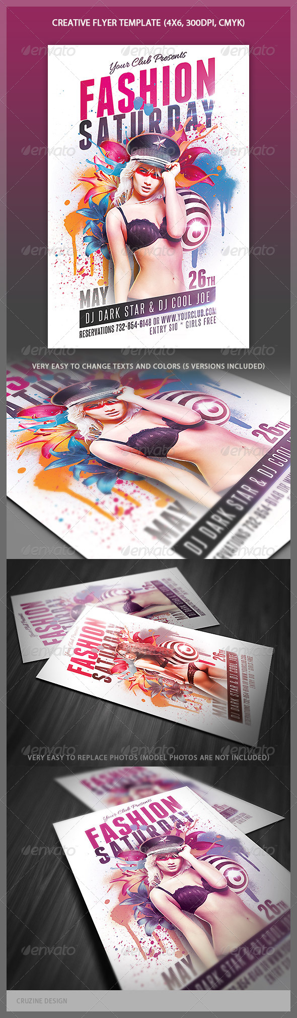 Creative Style Flyer Template - Clubs & Parties Events