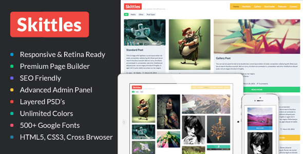 Skittles Multi Purpose Portfolio WordPress Theme