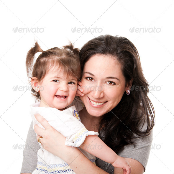 Happy mother baby daughter family - Stock Photo - Images