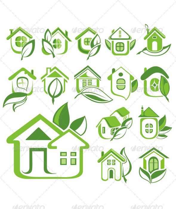 Eco Houses - Decorative Symbols Decorative