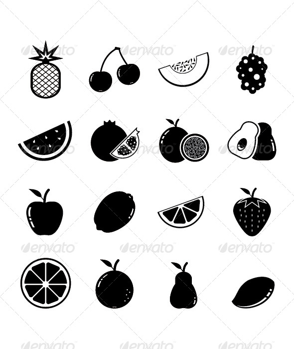 Fruit Icon - Food Objects