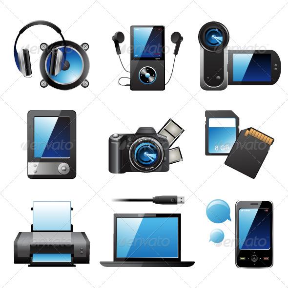 Electronic Devices - Web Elements Vectors