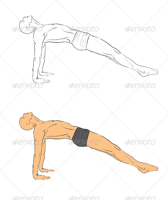Yoga Position - People Characters