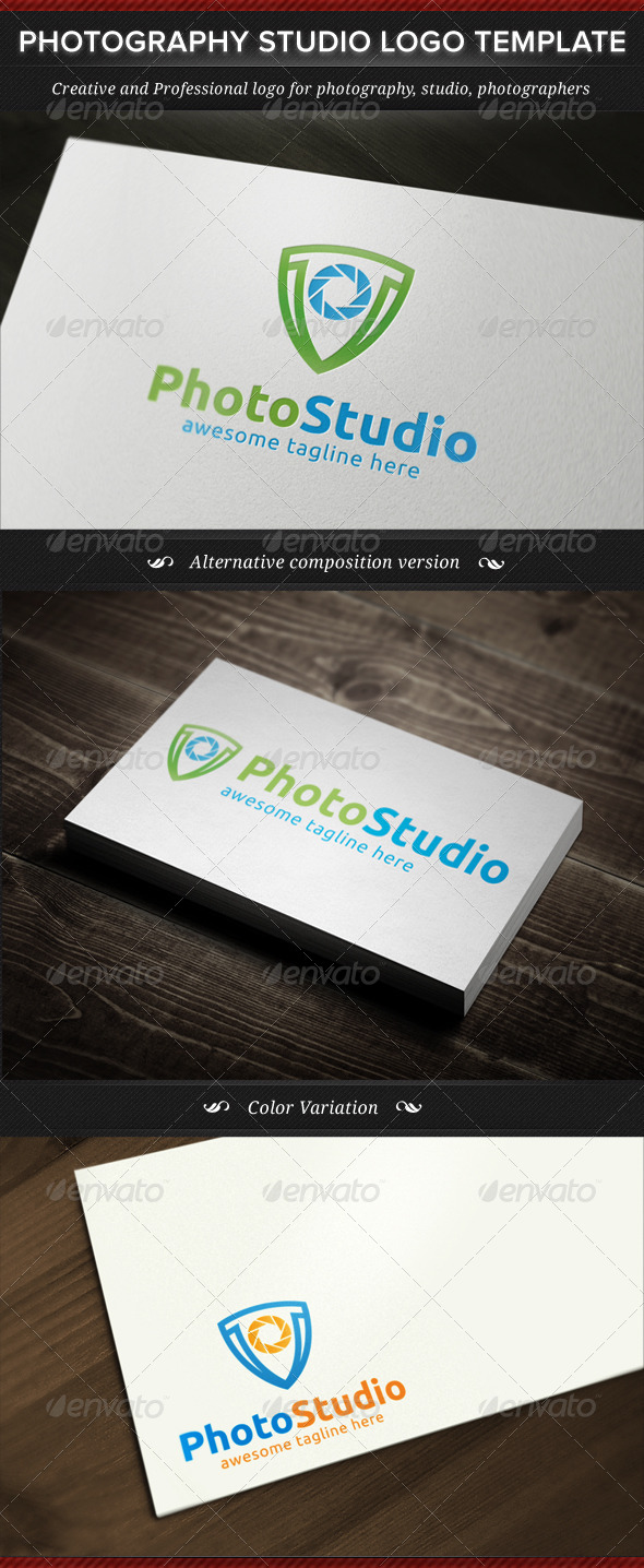 Photography Studio Logo Template - Objects Logo Templates