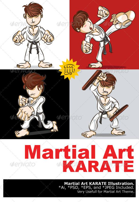 Martial Art Karate - Sports/Activity Conceptual