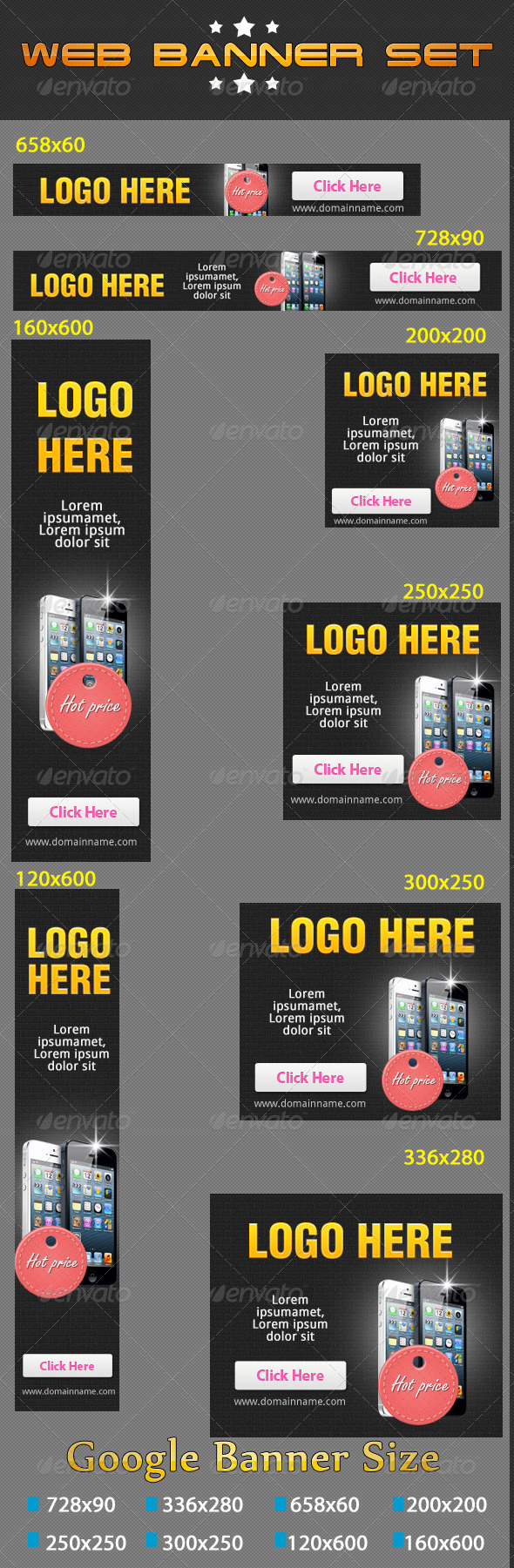 Web Banners Set VOL-02 - Banners & Ads Web Elements