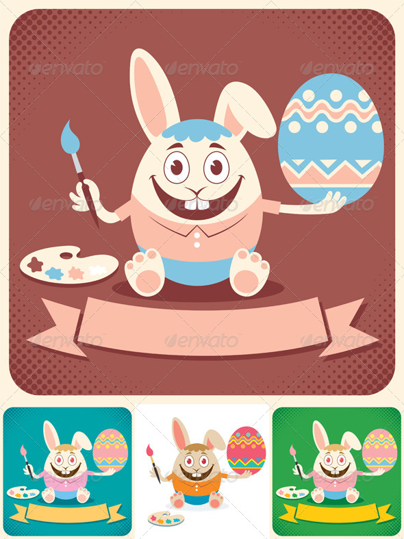 Easter Card - Animals Characters
