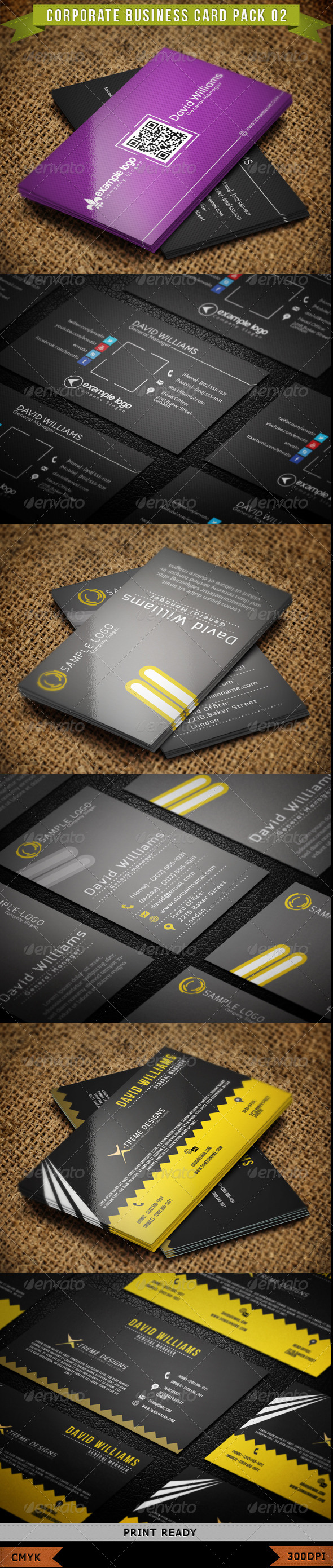 Corporate Business Card Pack 02 - Corporate Business Cards