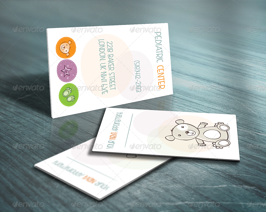 Pediatric Business Card by webOpium | GraphicRiver