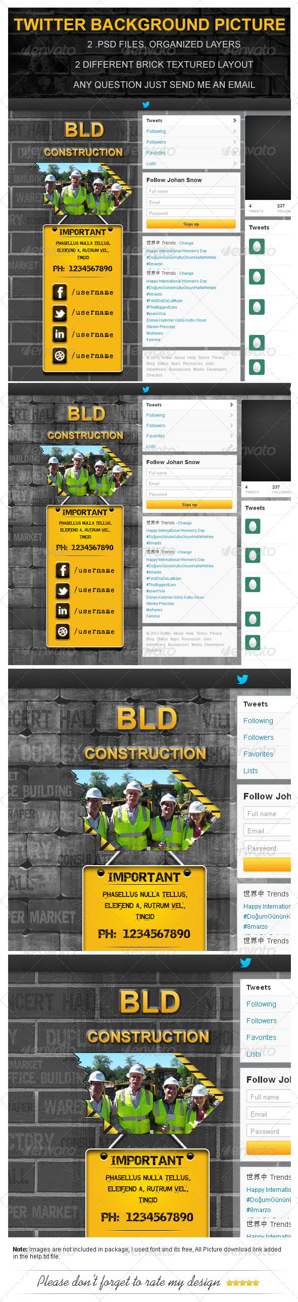 Building Construction Twitter Background Picture - Twitter Social Media