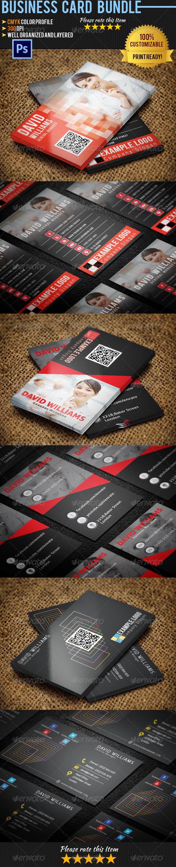 Corporate Business Card Bundle 03 - Corporate Business Cards