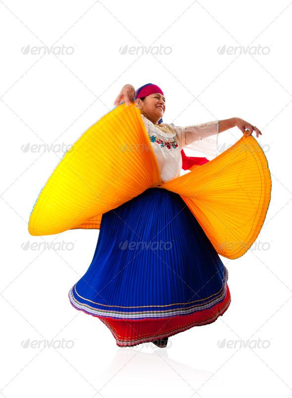 Dancing Latin Gypsy woman - Stock Photo - Images