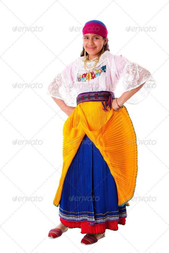 Happy Indigenous Latina Girl - Stock Photo - Images