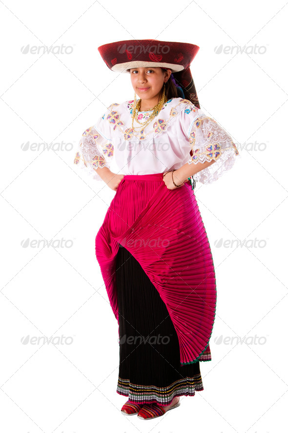 Beautiful Indian girl from Andes - Stock Photo - Images