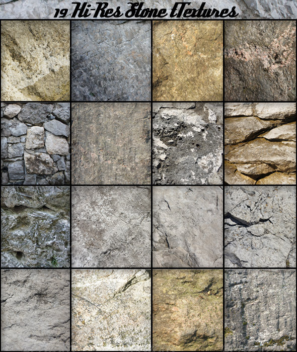 19 Stone Textures - Stone Textures