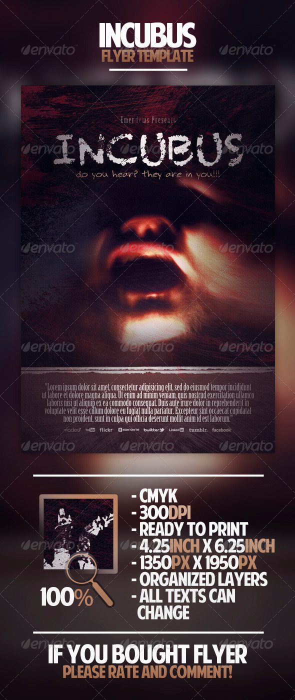 Incubus Flyer Template - Miscellaneous Events