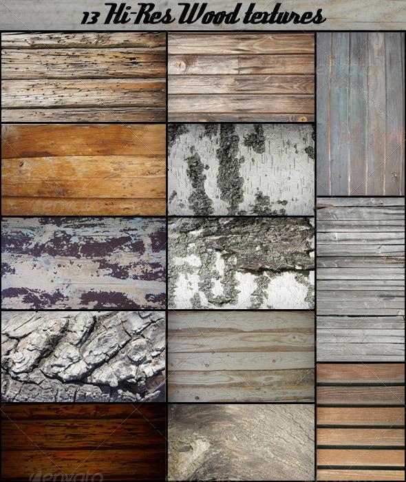 13 Wood Textures - Wood Textures